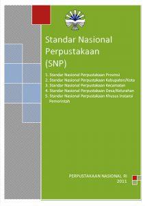 Standar Nasional Bidang Perpustakaan Umum dan Khusus